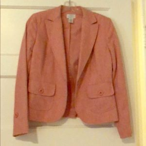 Pink wool lined blazer
